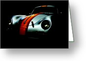 Best Greeting Cards - Porsche 1600 Greeting Card by Kurt Golgart