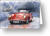 Motorsport Greeting Cards - Porsche 356 B Roadster Greeting Card by Yuriy  Shevchuk