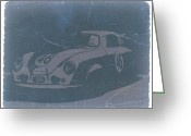 Porsche Greeting Cards - Porsche 356 Coupe Front Greeting Card by Irina  March