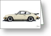 1984 Greeting Cards - Porsche 911 Carrera Greeting Card by Alain Jamar