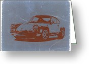 Original Porsche 911 Greeting Cards - Porsche 911 Greeting Card by Irina  March