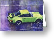 Motorsport Greeting Cards - Porsche 911 turbo Greeting Card by Yuriy  Shevchuk
