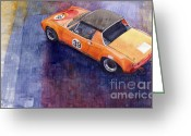 Porsche Greeting Cards - Porsche 914 GT Greeting Card by Yuriy  Shevchuk