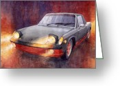 Porsche Greeting Cards - Porsche 914 Greeting Card by Yuriy  Shevchuk