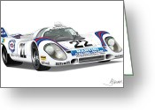 Alms Greeting Cards - Porsche 917 Greeting Card by Alain Jamar