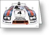 Alms Greeting Cards - Porsche 936 Spyder 1980 Greeting Card by Alain Jamar