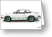 Alms Greeting Cards - Porsche Carrera Rs Greeting Card by Alain Jamar