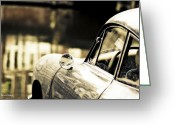 Signed Greeting Cards - Porsche Coupe in Amsterdam Greeting Card by Jayne Logan