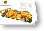 Alms Greeting Cards - Porsche poster RS Spyder Greeting Card by Alain Jamar