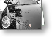 Porsche Greeting Cards - Porsche Reflections Greeting Card by Andrew Fare