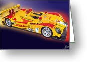 Alms Greeting Cards - porsche RS Spyder Greeting Card by Alain Jamar