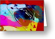 Ferrari Digital Art Greeting Cards - Porsche Watercolor Greeting Card by Irina  March