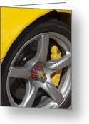 Car Photographs Greeting Cards - Porsche Wheel Greeting Card by Jill Reger