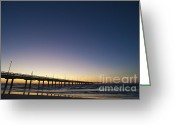 Surf Fishing Photo Greeting Cards - Port Aransas Texas Greeting Card by Andre Babiak
