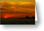 Lyle  Huisken Greeting Cards - Port Boca Grande Light Greeting Card by Lyle  Huisken