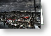 Port Hardy Greeting Cards - Port Hardy Vessels Greeting Card by Ian Woods