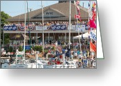 Bayview Greeting Cards - Port Huron to Mackinac Race Greeting Card by Randy J Heath