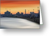 Hamburg Greeting Cards - Port of Hamburg Greeting Card by Marc Huebner