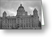 Bygone Greeting Cards - Port of Liverpool Building Greeting Card by Georgia Fowler