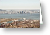 Port Of San Francisco Greeting Cards - Port of Oakland Greeting Card by Eddy Joaquim