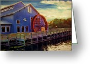 Disney Greeting Cards - Port Orleans Riverside Greeting Card by Lourry Legarde