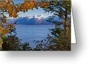 Snow Capped Photo Greeting Cards - Portal Greeting Card by Ed Boudreau