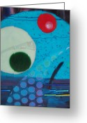 Portal Glass Art Greeting Cards - Portal Greeting Card by Mark Lubich