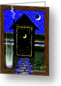 Portal Greeting Cards - Portal Potty Greeting Card by Cristopher