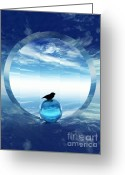 Surrealism Digital Art Greeting Cards - Portal to Peace Greeting Card by Richard Rizzo