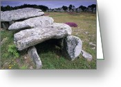 Mound Greeting Cards - Portal Tomb Greeting Card by David Nunuk