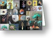 Silver Jewelry Greeting Cards - Portfolio Collage 2012 Greeting Card by Vanessa Williams