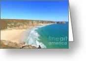 Kernow Greeting Cards - Porthcurno Greeting Card by Carl Whitfield