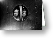 Porthole Greeting Cards - Porthole Girls Greeting Card by London Express