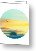 Porthole Greeting Cards - Porthole View Greeting Card by Gothicolors With Crows