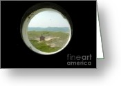 Birdseye Greeting Cards - Porthole Window at Race Point Greeting Card by Valerie Twomey