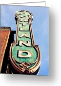 Northwest Photography Greeting Cards - Portland Greeting Card by Cathie Tyler