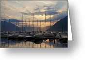 Backlight Greeting Cards - Porto Patriziale Ascona Greeting Card by Joana Kruse