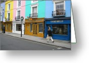 Store Fronts Greeting Cards - Portobello Road Greeting Card by Devin Hyde
