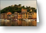 Sailing Greeting Cards - Portofino bay Greeting Card by Neil Buchan-Grant