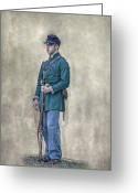 War Art Greeting Cards - Portrait of a Young Soldier of Berdans Sharpshooters Greeting Card by Randy Steele