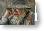Jesuit Greeting Cards - Portrait of an Old Man Greeting Card by Randy Steele