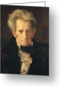 Democrat Painting Greeting Cards - Portrait of Andrew Jackson Greeting Card by George Peter Alexander Healy