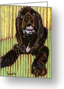 David Kent Collections Greeting Cards - Portrait of Baby Chuckie Greeting Card by David  Hearn