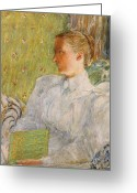 Edith Greeting Cards - Portrait of Edith Blaney Greeting Card by Childe Hassam