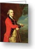 Pointing Painting Greeting Cards - Portrait of General Thomas Gage Greeting Card by John Singleton Copley