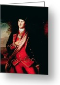 Independence Painting Greeting Cards - Portrait of George Washington Greeting Card by Charles Willson Peale