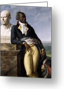 Earring Greeting Cards - Portrait of Jean-Baptiste Belley Greeting Card by Anne Louis Girodet de Roucy-Trioson