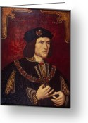 Royalty Greeting Cards - Portrait of King Richard III Greeting Card by English School