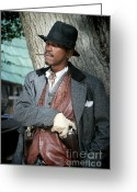 Organized Crime Greeting Cards - Portrait of Kurupt Greeting Card by Nina Prommer
