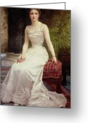 Adolphe Greeting Cards - Portrait of Madame Olry-Roederer Greeting Card by William-Adolphe Bouguereau